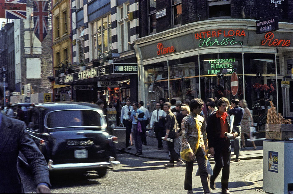 Swinging Sixties Carnaby Street, London 1968