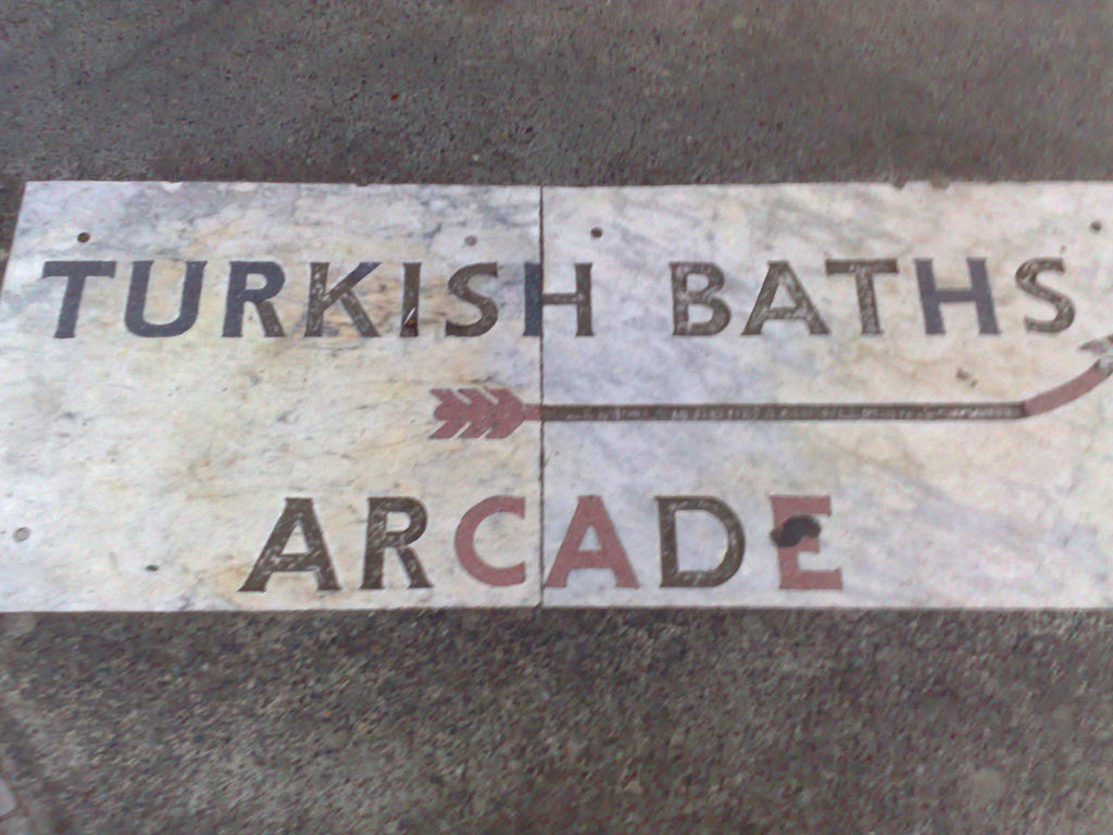 Turkish Baths sign near Russell Square station